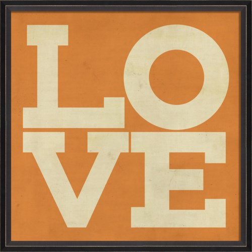 BC LOVE white on orange
