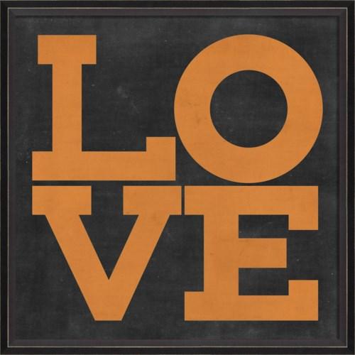 BC LOVE orange on black