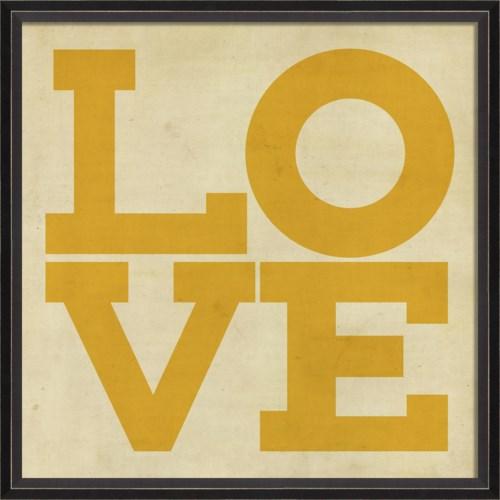 BC LOVE yellow on white