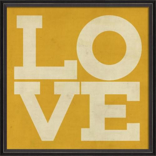BC LOVE white on yellow