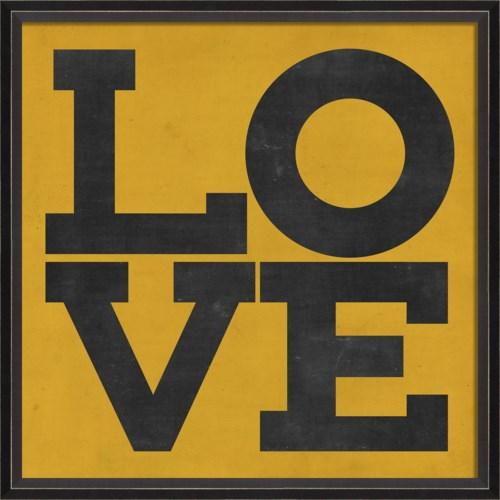 BC LOVE black on yellow