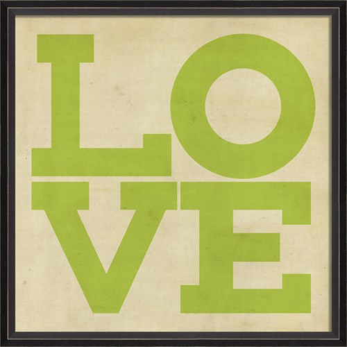 BC LOVE green on white