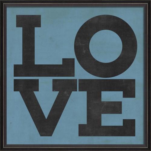 BC LOVE black on blue