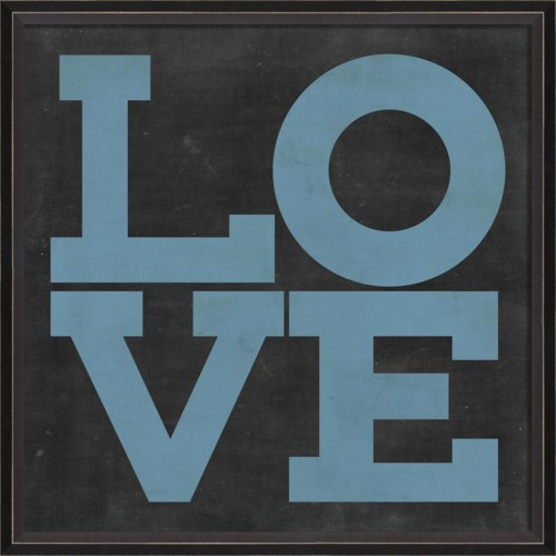 BC LOVE blue on black