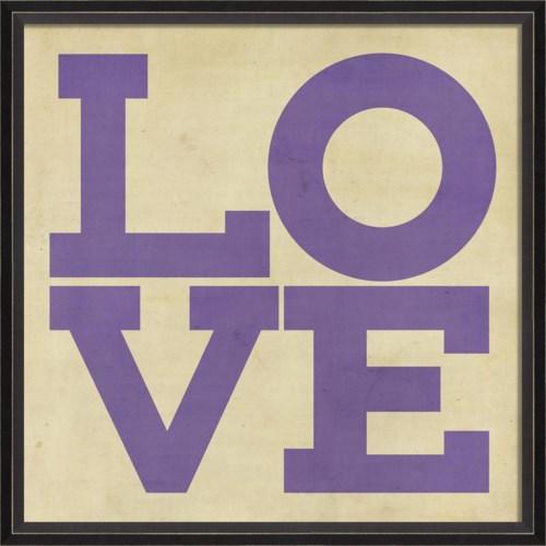 BC LOVE purple on white