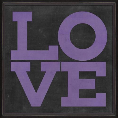 BC LOVE purple on black