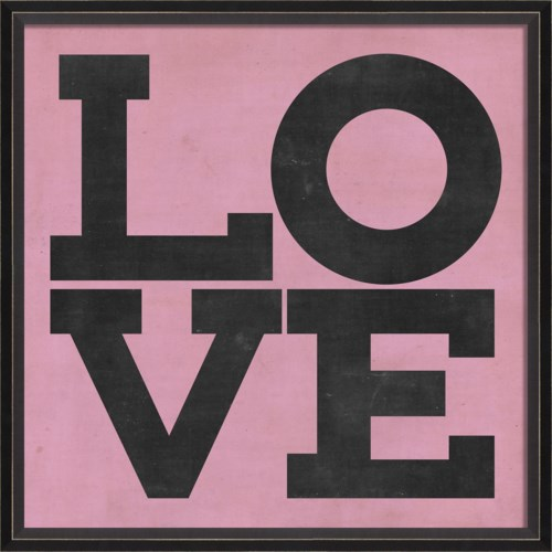 BC LOVE black on pink