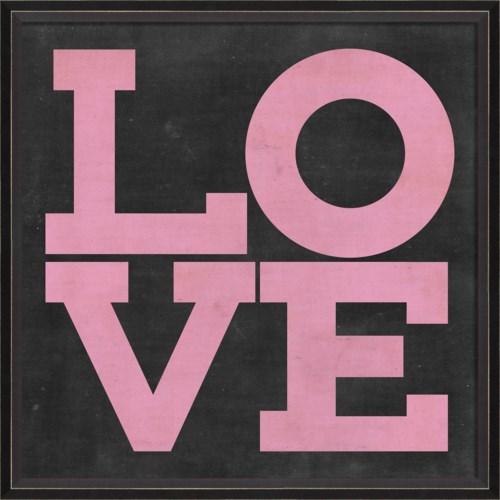 BC LOVE pink on black