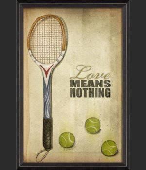 BC Tennis Love Means Nothing Poster