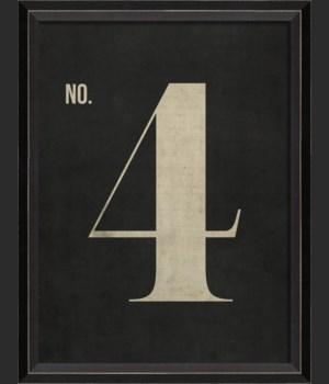 BC Number 4 on Black sm