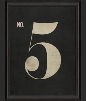 BC Number 5 on Black sm