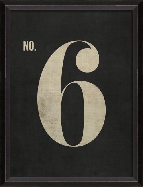 BC Number 6 on Black sm