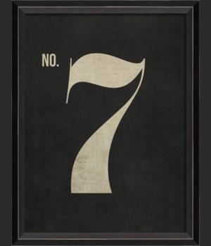 BC Number 7 on Black sm