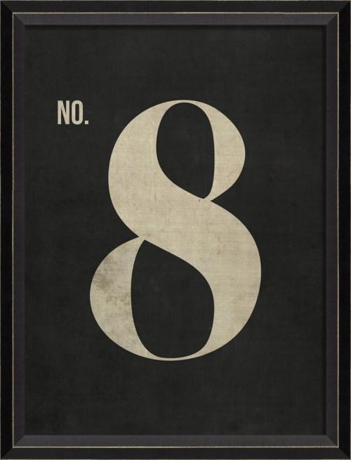 BC Number 8 on Black sm