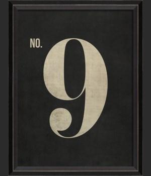 BC Number 9 on Black sm
