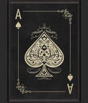 BC Ace of Spades White on Black