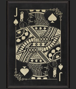 BC Jack of Spades White on Black