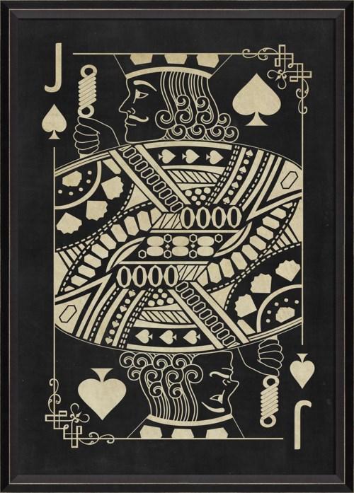 BC Jack of Spades White on Black