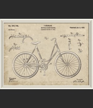 WCWL F Douglas Bicycle Patent 30x40