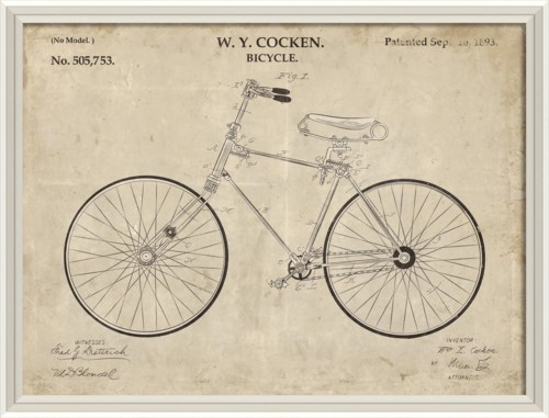 WCWL WY Cocken Bicycle Patent 30x40