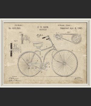 WCWL CD Rice Bicycle Patent 30x40
