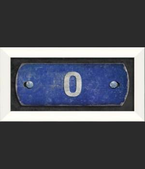 LN Number 0 on blue
