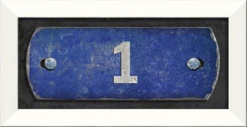 LN Number 1 on blue