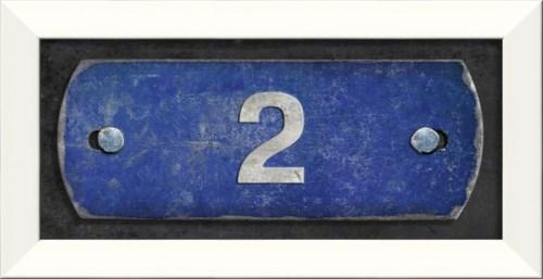 LN Number 2 on blue