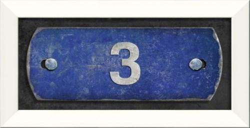 LN Number 3 on blue