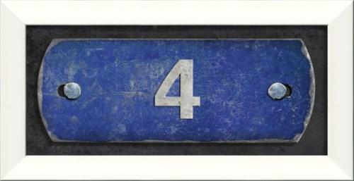 LN Number 4 on blue