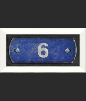 LN Number 6 on blue