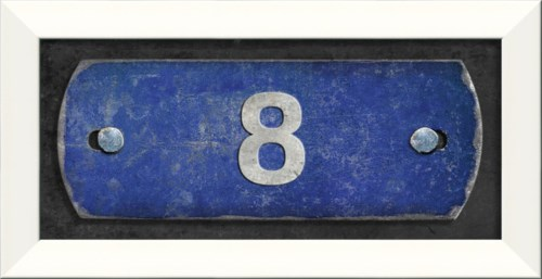 LN Number 8 on blue