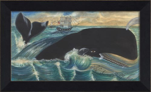 MI Whale Passing Ships