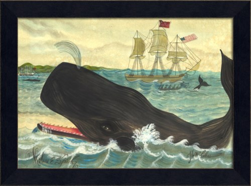 MI Coffin Whalers with Whale