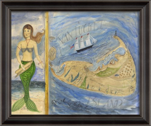 LS Nantucket Map and Mermaid Esther