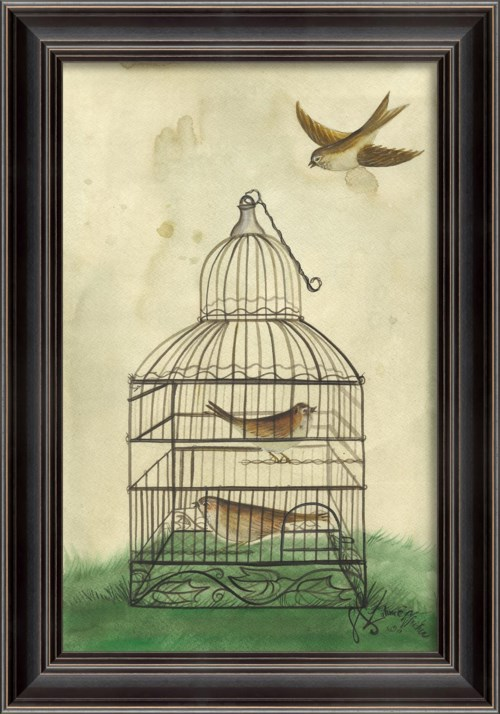 LH Brown Birds in Cage
