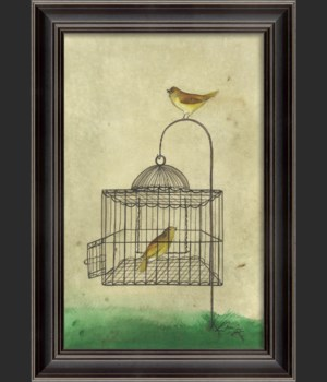LS Yellow Bird in Cage