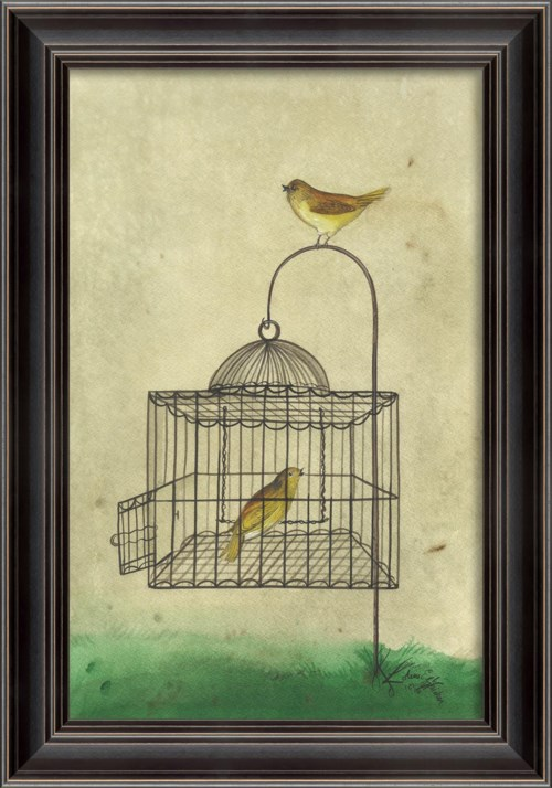 LH Yellow Bird in Cage
