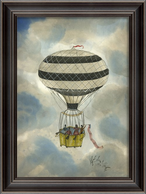 LS Black and White Striped Balloon