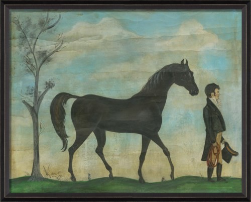BC Man with Steed Landscape