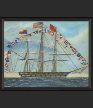 BC Ship with Flags