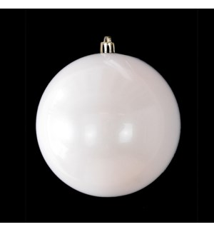 Pearl White Shatterproof Ball Ornament (15CM)