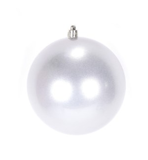 Pearl Silver Shatterproof Ball Ornament (15CM) - 36/Case