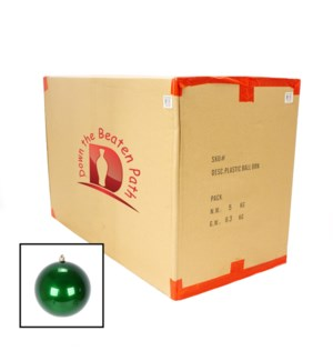 Case of Pearl Holiday-Green Shatterproof Ball Ornaments (15CM) - 36/Case