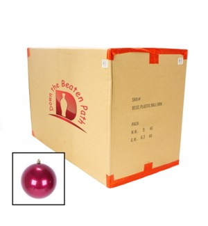 Case of Pearl Burgandy Shatterproof Ball Ornaments (15CM) - 36/Case