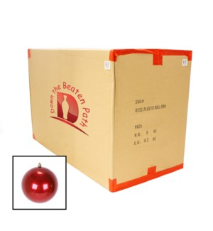 Case of Pearl Red Ball Shatterproof Ornaments (15CM) - 12/Case