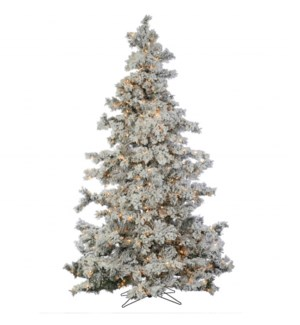 9' Flocked Summit Christmas Tree