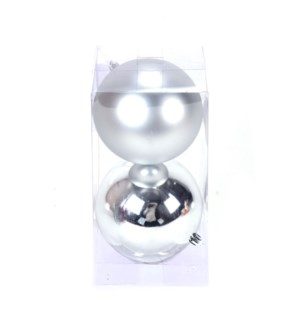 Set of Silver Ball Ornaments (12CM)