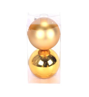 Set of Gold Ball Ornaments (12CM)