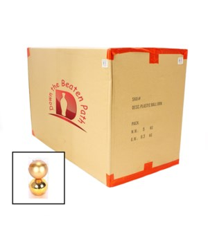 Case of Gold Ball Ornaments - Set of 2 (12CM) - 36/Case